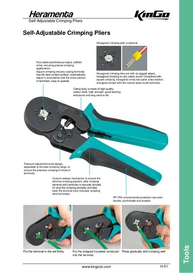 High Carbon Steel Crimping Pliers for End Sleeves 0.25-2.5mm² w// Soft Handle NEW