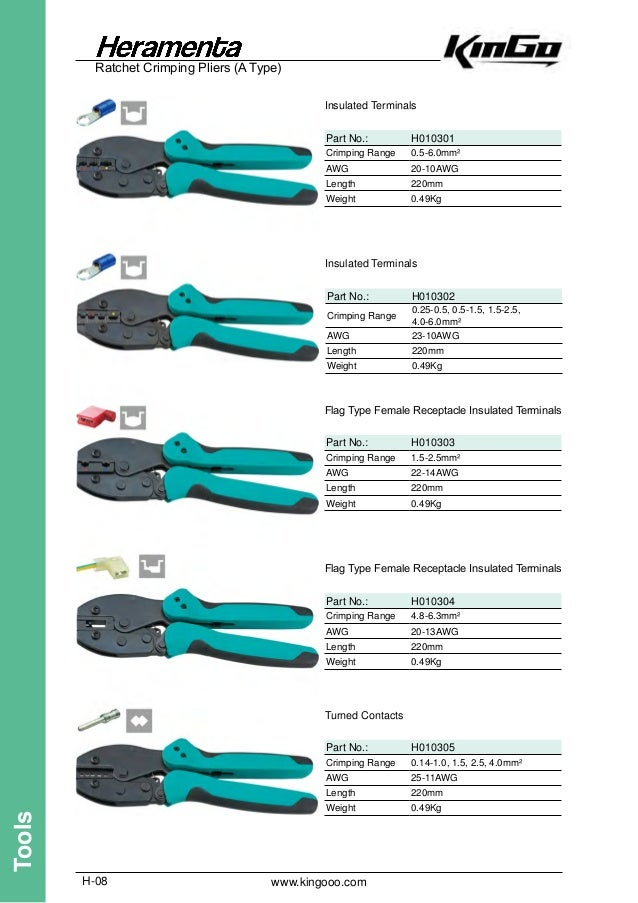 23-13AWG 0.25-2.5mm² European Type Insulated Terminals Ratchet Crimping Plier