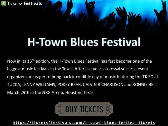 H-Town Blues Festival Tickets from Tickets4Festivals Slide 2