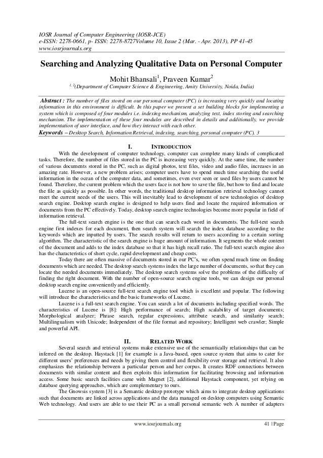 IOSR Journal of Computer Engineering (IOSR-JCE) e-ISSN: 2278-0661, p- ISSN: 2278-8727Volume 10, Issue 2 (Mar. - Apr. 2013)...