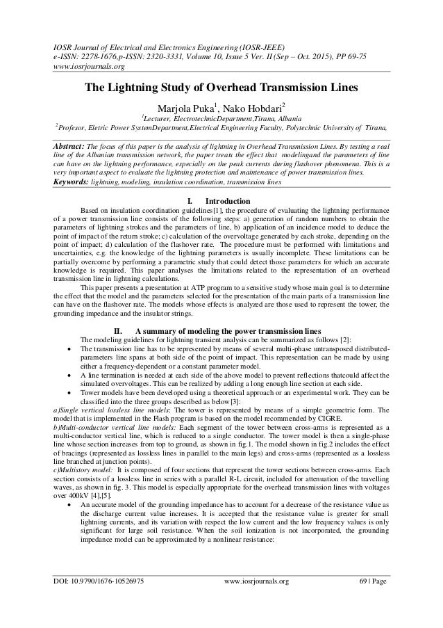 IOSR Journal of Electrical and Electronics Engineering (IOSR-JEEE) e-ISSN: 2278-1676,p-ISSN: 2320-3331, Volume 10, Issue 5...