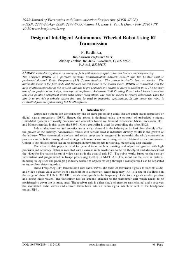 IOSR Journal of Electronics and Communication Engineering (IOSR-JECE) e-ISSN: 2278-2834,p- ISSN: 2278-8735.Volume 11, Issu...