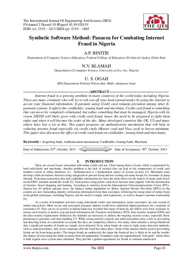 The International Journal Of Engineering And Science (IJES) ||Volume|| 2 ||Issue|| 10 ||Pages|| 43-50 ||2013|| ISSN (e): 2...