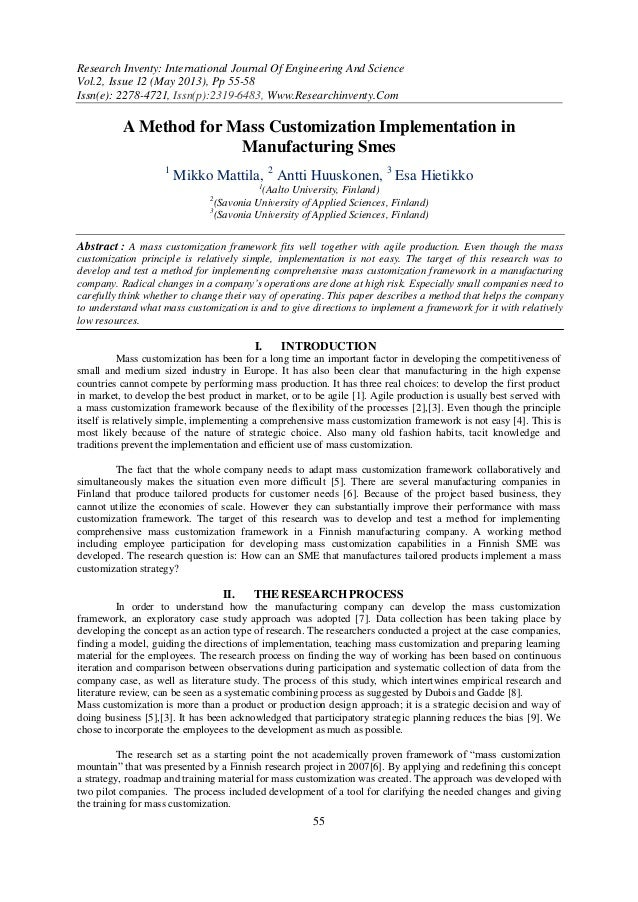 Research Inventy: International Journal Of Engineering And ScienceVol.2, Issue 12 (May 2013), Pp 55-58Issn(e): 2278-4721, ...