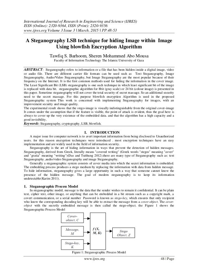 a data hiding algorithm using steganography Cryptography in data hiding-: select a picture you want for hiding file behind the image the algorithms maintain the confidentiality of information, and if the algorithms are known then xiao steganography - its, a free software which can be used to hide secret files in wav files or.