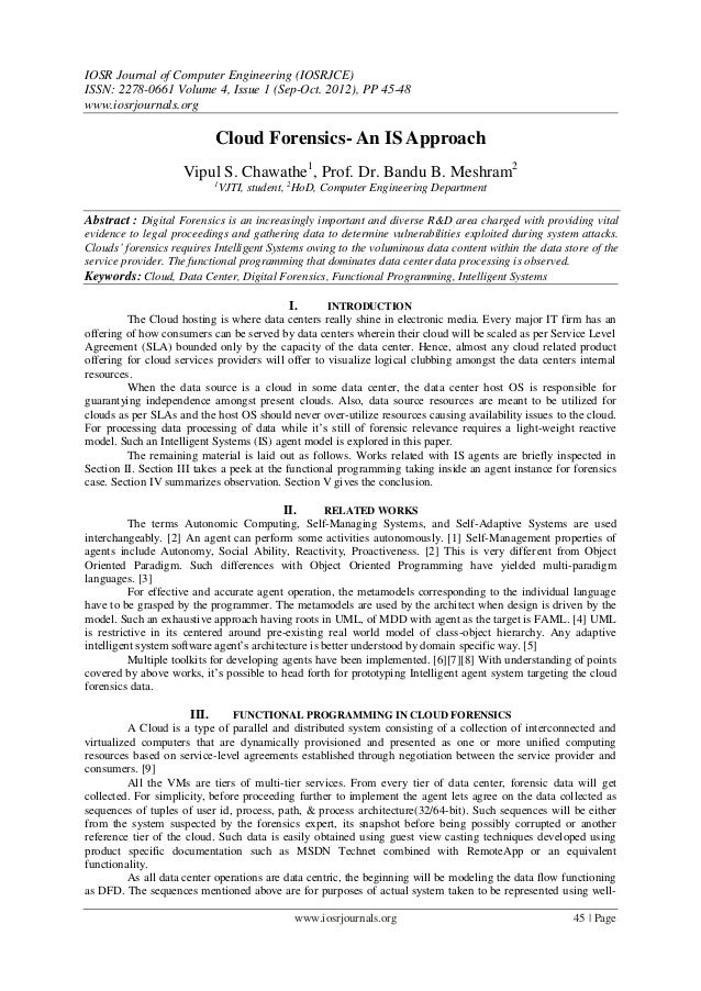 IOSR Journal of Computer Engineering (IOSRJCE) ISSN: 2278-0661 Volume 4, Issue 1 (Sep-Oct. 2012), PP 45-48 www.iosrjournal...