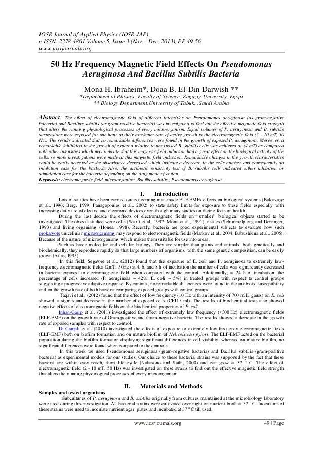 IOSR Journal of Applied Physics (IOSR-JAP) e-ISSN: 2278-4861.Volume 5, Issue 3 (Nov. - Dec. 2013), PP 49-56 www.iosrjourna...