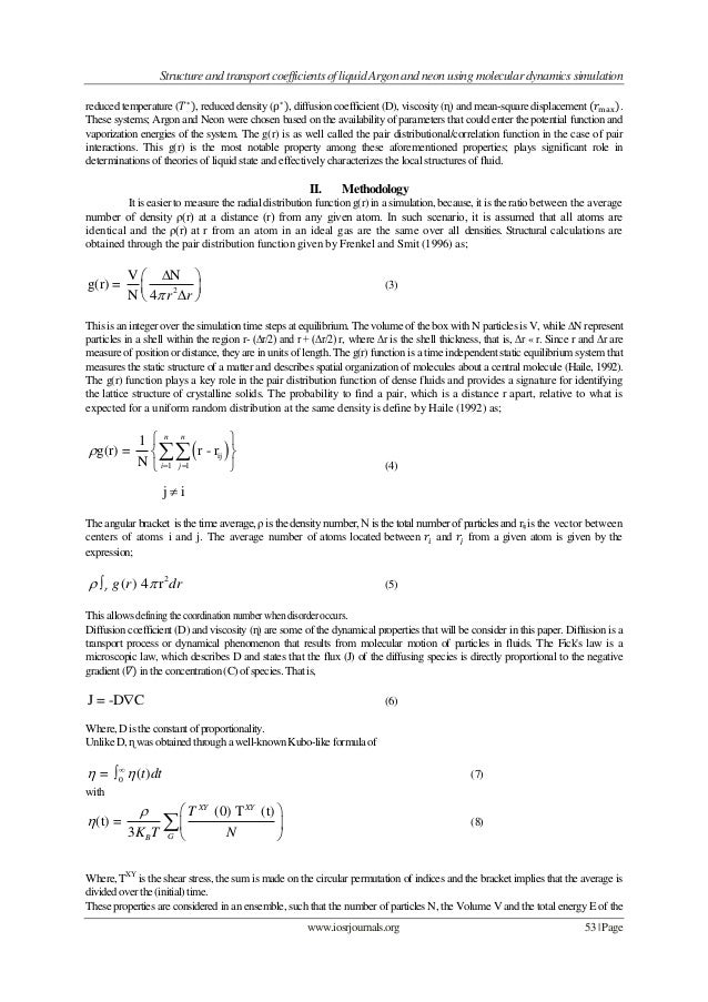 Structure and transport coefficients of liquid Argon and