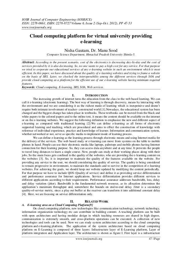 IOSR Journal of Computer Engineering (IOSRJCE) ISSN: 2278-0661, ISBN: 2278-8727 Volume 6, Issue 2 (Sep-Oct. 2012), PP 47-5...