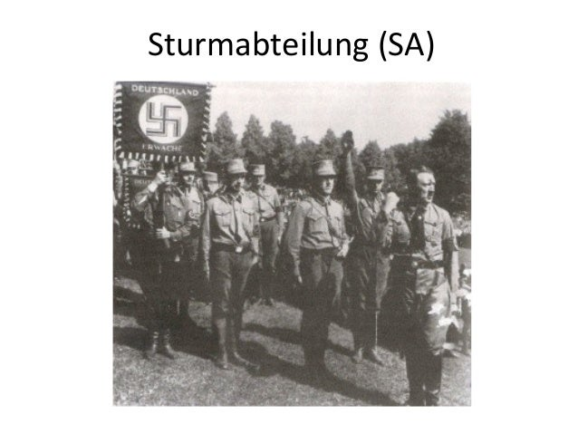 an analysis of the 1930s and the role of the hitler and nazi regime Sa: sa, in the german nazi party, a paramilitary organization whose use of violent intimidation played a key role in adolf hitler's rise to power.