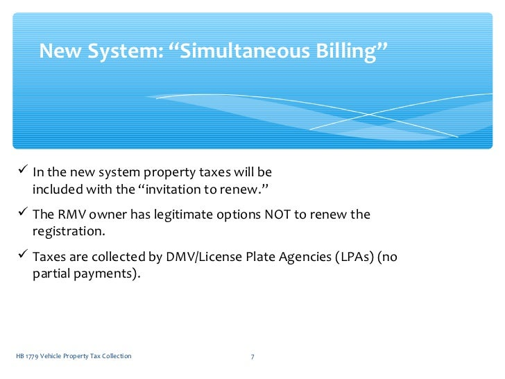 Nc Dmv Taxes >> H1779 NC Combined Motor Vehicle Registration and Property Tax Collect…