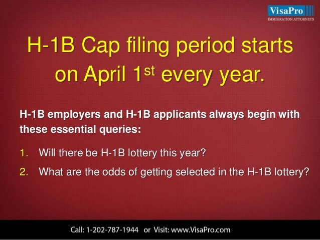 what is h1b visa lottery and how will it work in april 2016