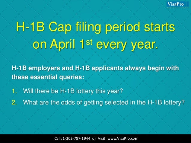what is h1b visa lottery and how will it work in april 2018