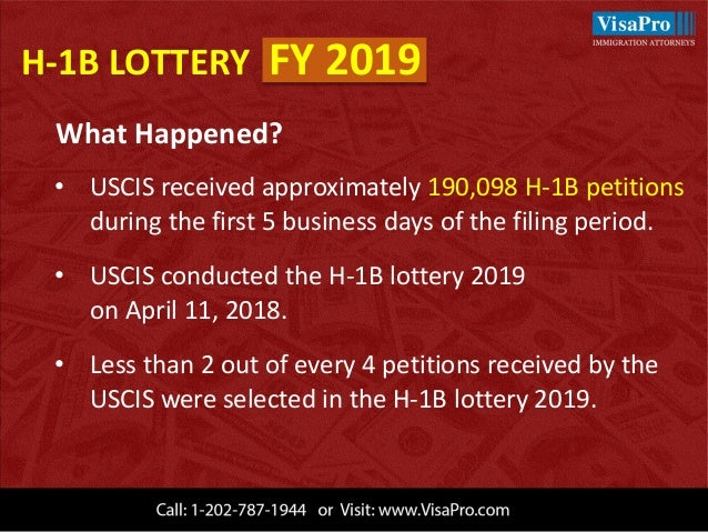 When will i know h1b lottery result