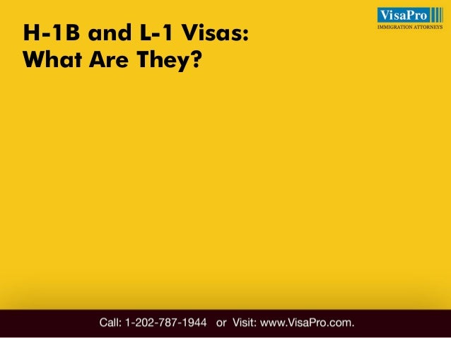 Difference Between H1B And L1: All About It Slide 2