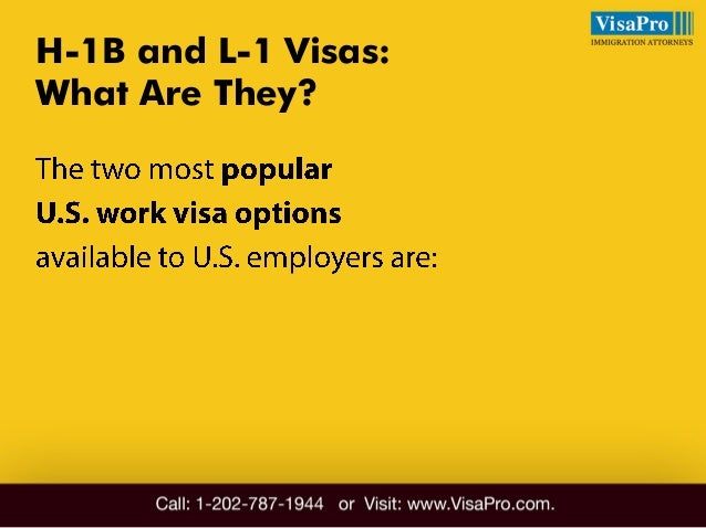 Difference Between H1B And L1: All About It Slide 3