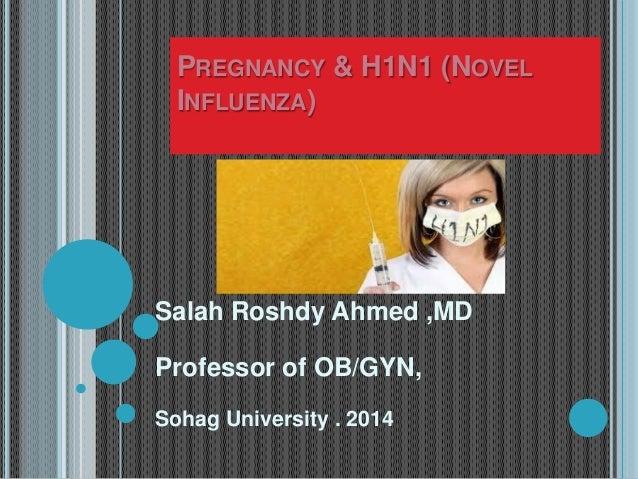 PREGNANCY & H1N1 (NOVEL INFLUENZA) Salah Roshdy Ahmed ,MD Professor of OB/GYN, Sohag University . 2014