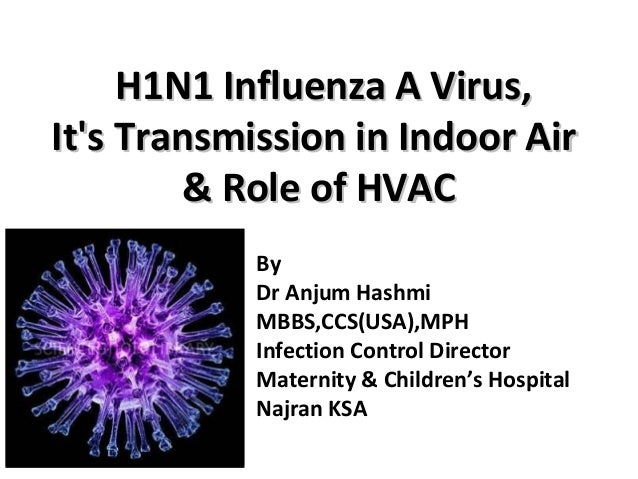 H1N1 Influenza A Virus,H1N1 Influenza A Virus, It's Transmission in Indoor AirIt's Transmission in Indoor Air & Role of HV...