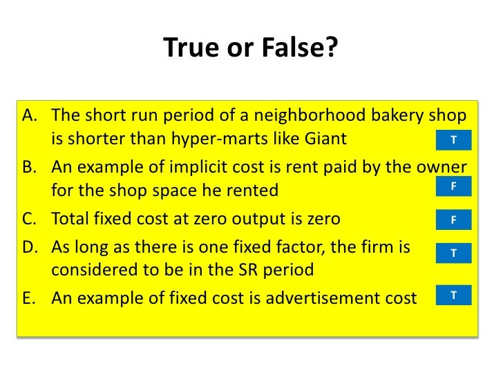 lecture on production and cost of Economics lecture notes – chapter 6 market structure will be taught in the first, second, third if the cost of production for a good is high.