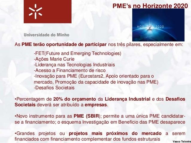 Programa para a Competitividade das                                     Empresas e das PME - COSMETem como objetivos princ...