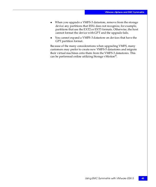 Using EMC Symmetrix Storage in VMware vSphere Environments