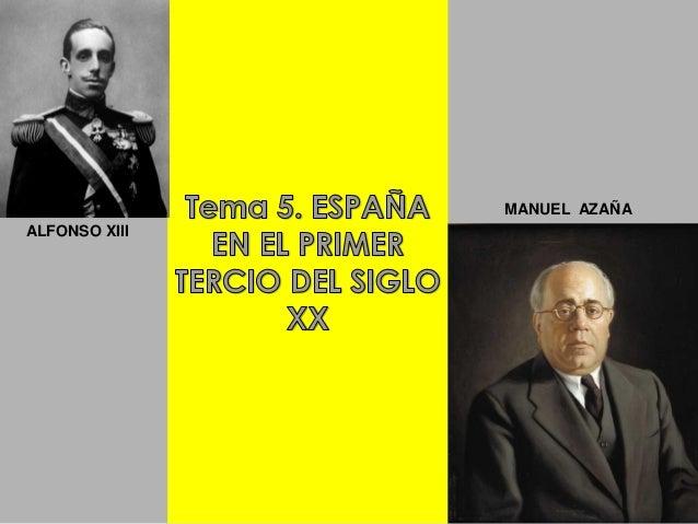 MANUEL AZAÑAALFONSO XIII