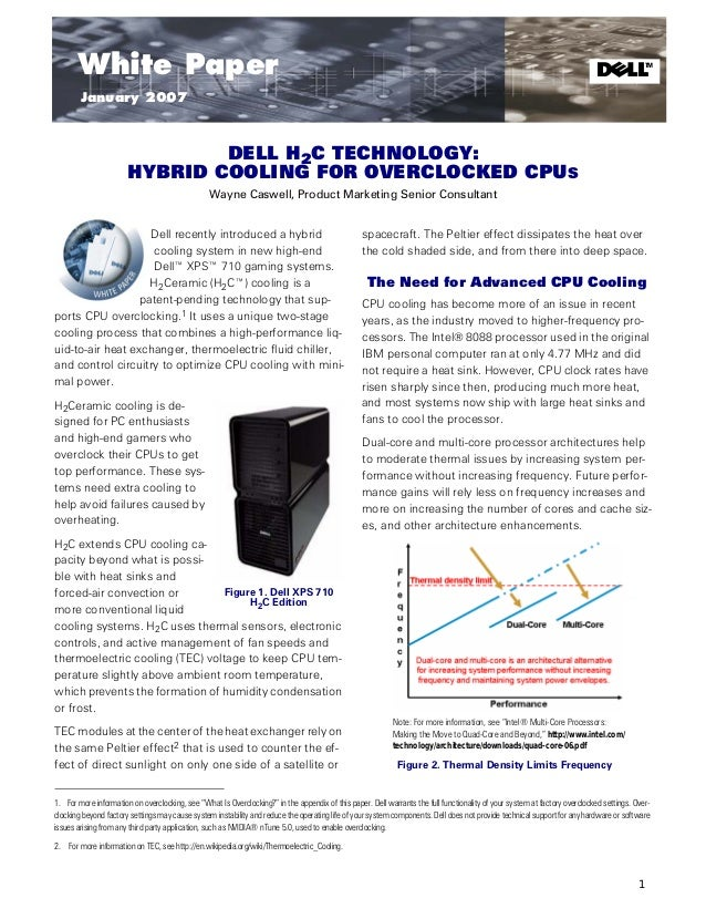 Dell H2C™ Technology: Hybrid Cooling for Overclocked CPUs