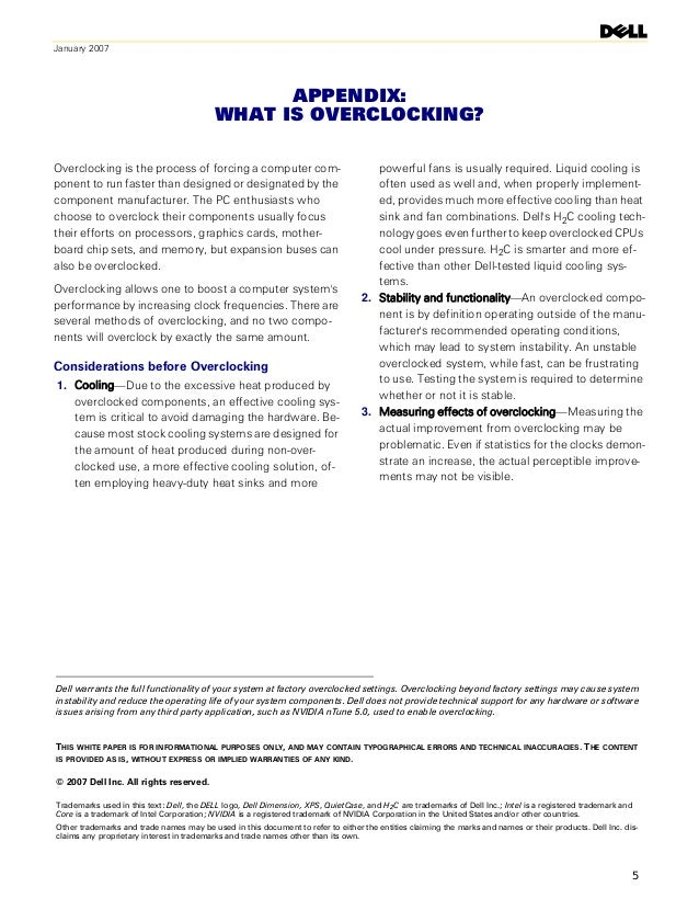 January 2007                                                APPENDIX:                                          WHAT IS OVE...