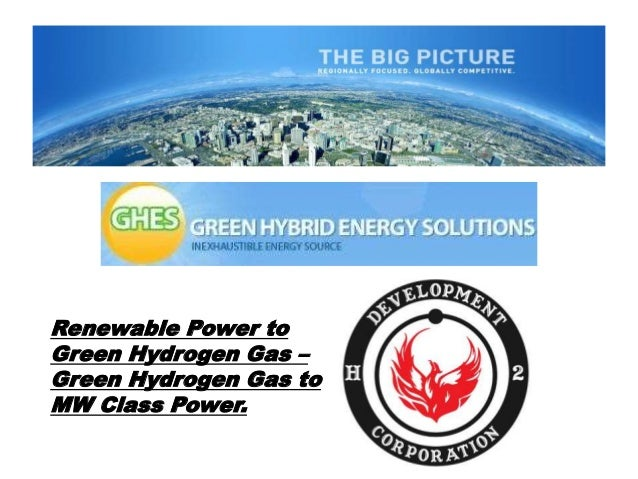 1 Renewable Power to Green Hydrogen Gas – Green Hydrogen Gas to MW Class Power.
