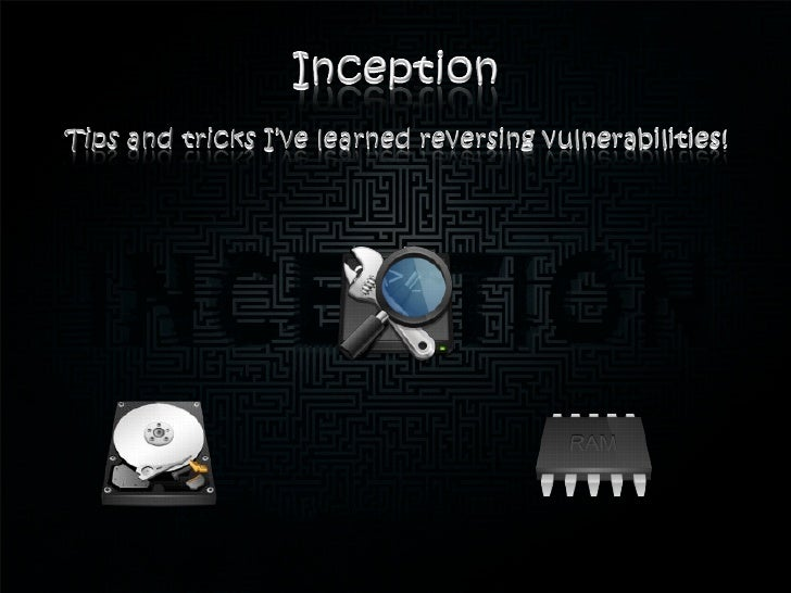 Agenda• 0000 – Motivation      • 0100 – Dream Level 3• 0001 – Inception       • 0101 – Dream Level 4• 0010 – Dream Level 1...