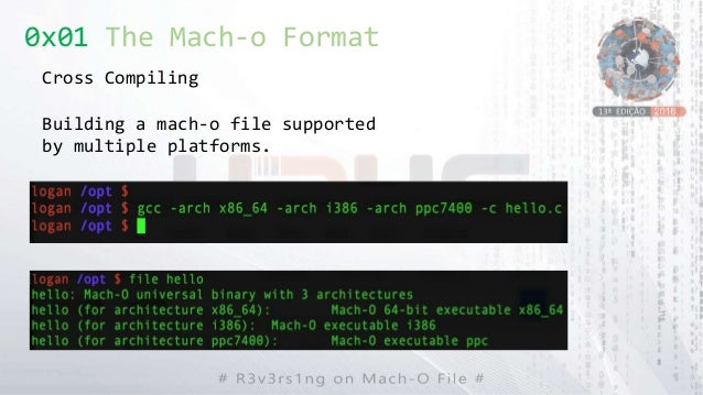 0x01 The Mach-o Format Cross Compiling Building a mach-o file supported by multiple platforms.