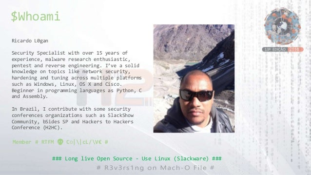 Ricardo L0gan Security Specialist with over 15 years of experience, malware research enthusiastic, pentest and reverse eng...