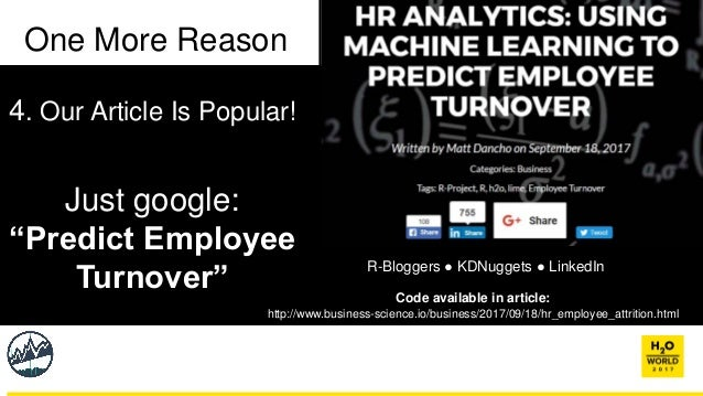 HR Analytics: Using Machine Learning to Predict Employee Turnover - M…