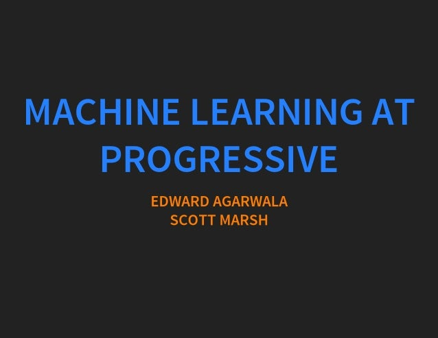 machine learning at