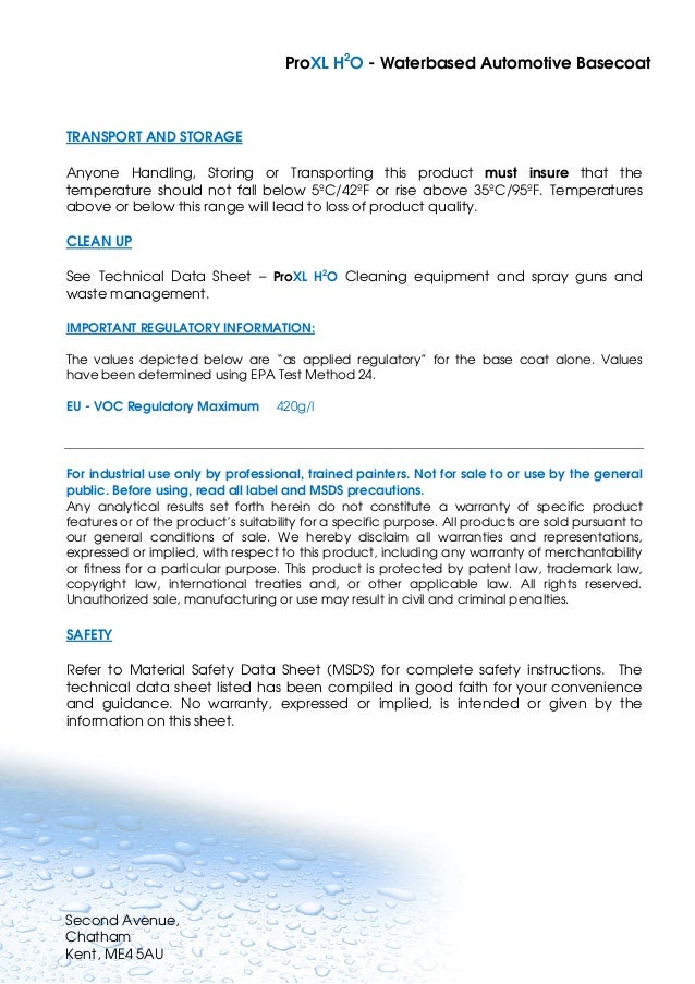 Spray Paint Msds Sheets Part - 37: ... Waterbased Automotive Basecoat; 24.