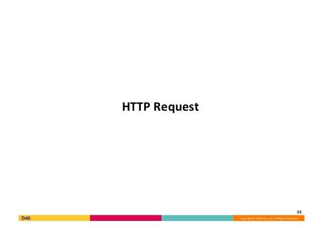 Copyright©DeNACo.,Ltd.AllRightsReserved. HTTPRequest 35