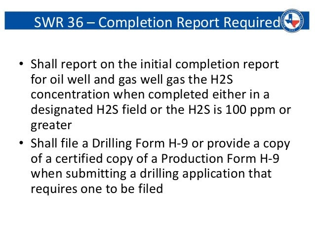 H2S by Railroad Commission of Texas