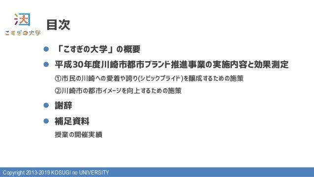平成30年度川崎市都市ブランド推進事業実施報告書 Slide 2