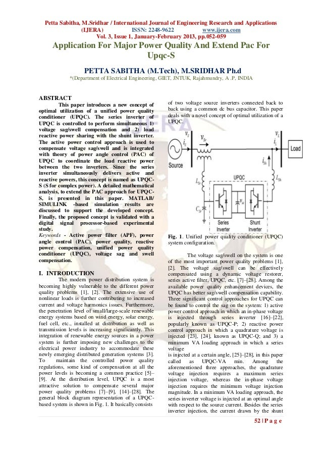 Petta Sabitha, M.Sridhar / International Journal of Engineering Research and Applications                 (IJERA)         ...