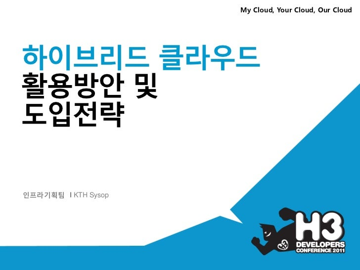 My Cloud, Your Cloud, Our Cloud하이브리드 클라우드활용방안 및도입전략인프라기획팀 I KTH Sysop