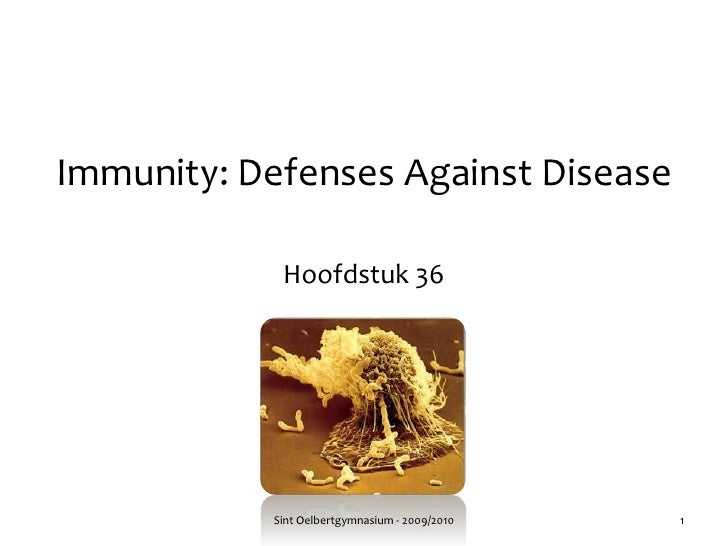 Immunity: DefensesAgainstDisease<br />Hoofdstuk 36<br />Sint Oelbertgymnasium - 2009/2010<br />1<br />