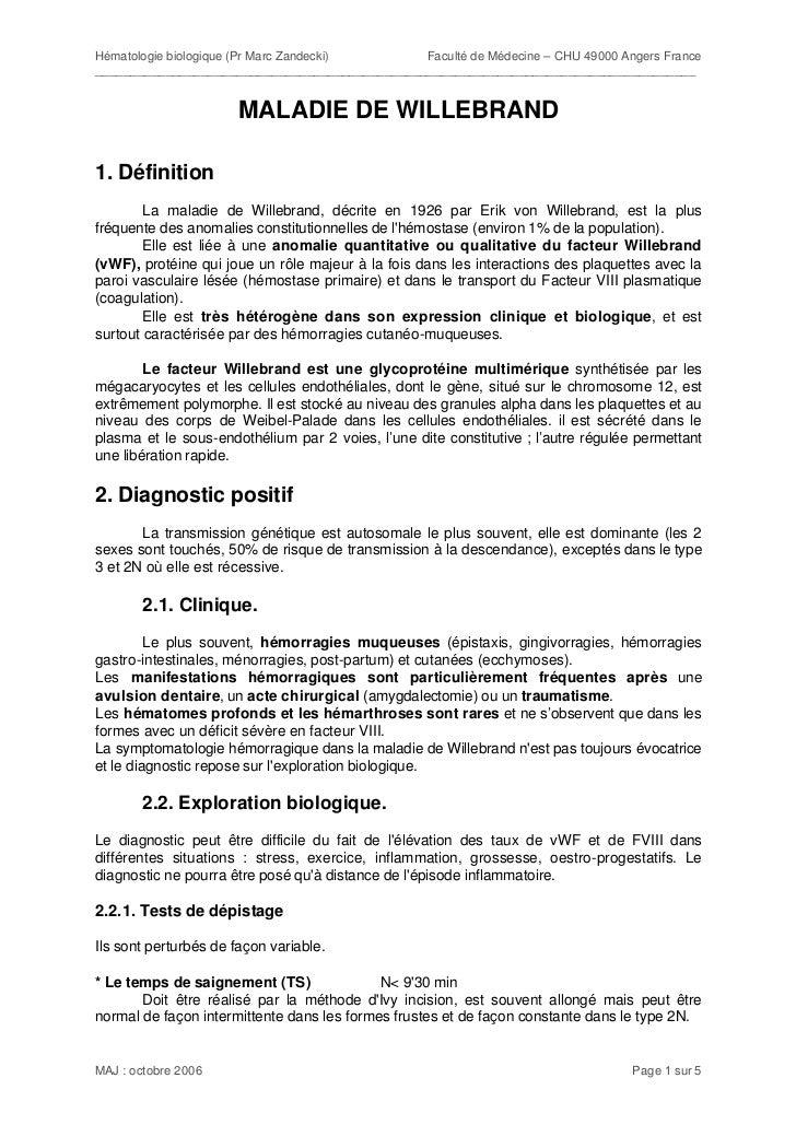 Hématologie biologique (Pr Marc Zandecki)      Faculté de Médecine – CHU 49000 Angers France______________________________...