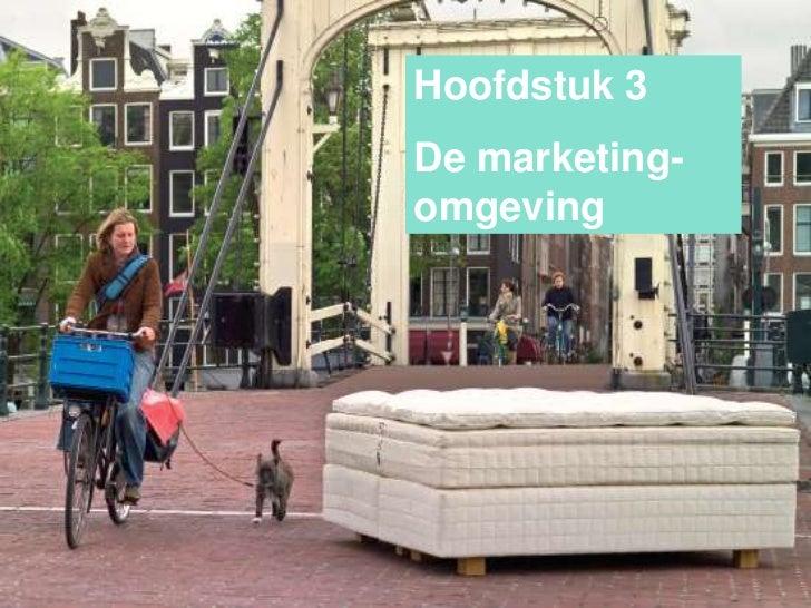 Hoofdstuk 3De marketing-omgeving
