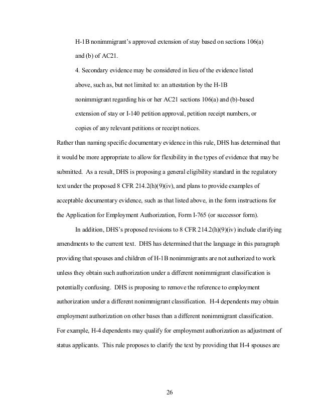 proposed rule text from dhs on h visa  26