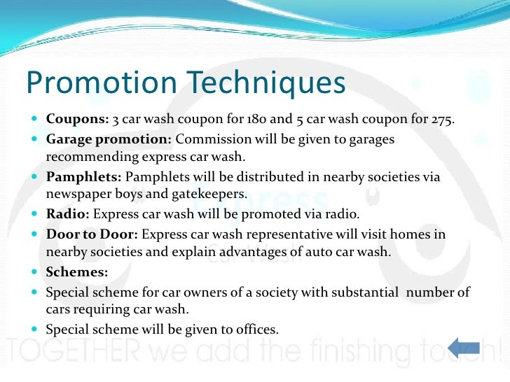 Marketing Plan – Car Wash Business Plan Template