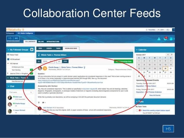 Collaboration Center Feeds
