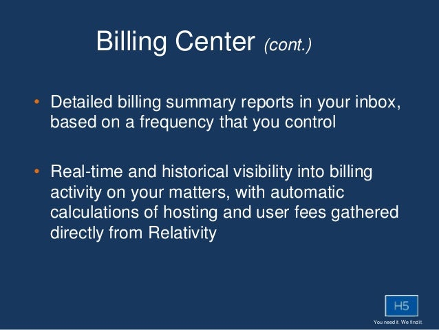 You need it. We find it. • Detailed billing summary reports in your inbox, based on a frequency that you control • Real-ti...