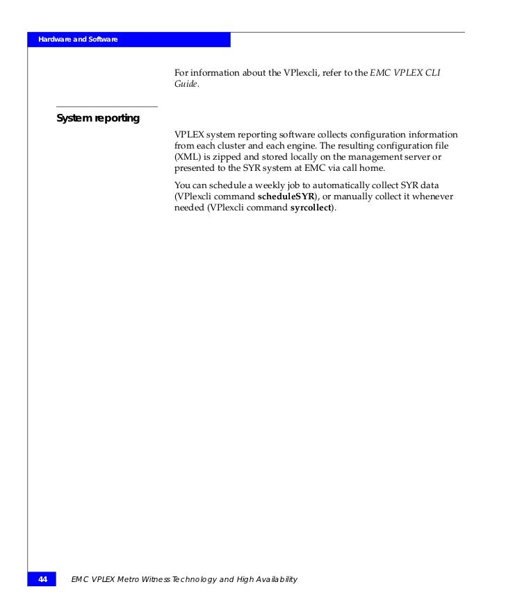 techbook emc vplex metro witness technology and high availability rh slideshare net emc vplex cli reference guide emc vplex cli commands