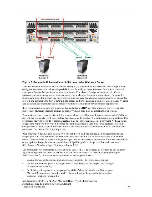 Figure 6. Connectivité haute disponibilité pour hôtes Windows Server Dans les instances où un cluster VPLEX est configuré,...