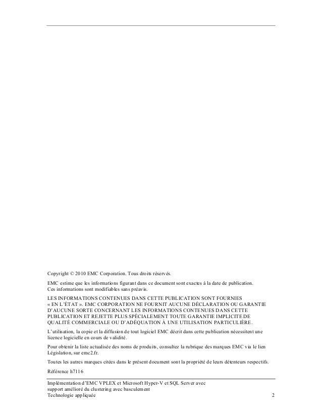 Copyright © 2010 EMC Corporation. Tous droits réservés. EMC estime que les informations figurant dans ce document sont exa...